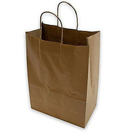 2dayShip Paper Retail Gift Bags with Rope Handles 10 x 5 x 13 inches, 25 Count