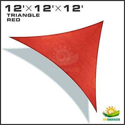 Windscreen4less? 12' x 12' x 12' Sun Shade Sail Canopy Rust Red -3rd Generation