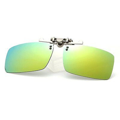 Fashion Polarized Myopia Clip-on Flip up UV Protection Rectangular Sunglasses