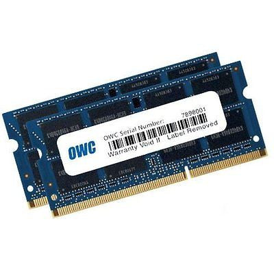 16.0GB OWC Memory Upgrade Kit - 2x 8.0GB 1600MHz DDR3L SO-DIMM PC12800 204 Pin