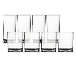 8pc Classic Break-resistant Plastic Tumblers