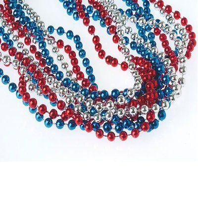 Red White & Blue Metallic Necklaces