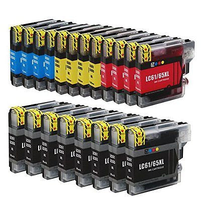 (TM) Compatible Ink Cartridge Replacement Brother LC-61 LC61 Series 20 Pack