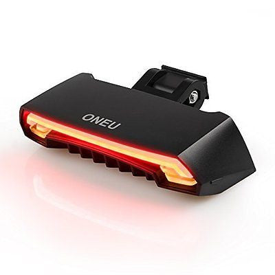 ONEU Bike Tail Light Waterproof Safety Laser Beams Lamp Warning Flashing Turn