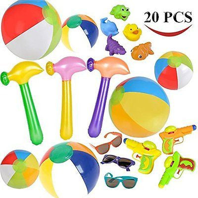 Joyin Toy Summer Pool Toy Assortment including 6 Beach Balls 5 Squirt Toys