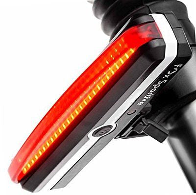 Red LED Rear Bike Light USB Rechargeable Bicycle Tail Light by Fox Sportive