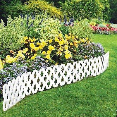 4 Pc Outdoor Flexible Lattice Weatherproof Plastic Garden Edging Border