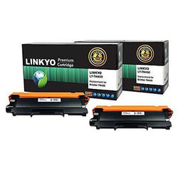 2-Pack LINKYO Compatible Replacement for Brother TN450 TN420 High Yield Toner
