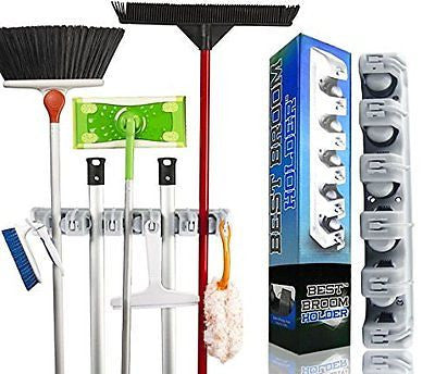 Best Broom Holder | The Most Powerful Grippers Mop Broom Holder