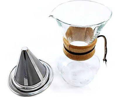 Coffee Maker Paperless Pour Over Coffee Dripper Stainless Steel Mesh Filter