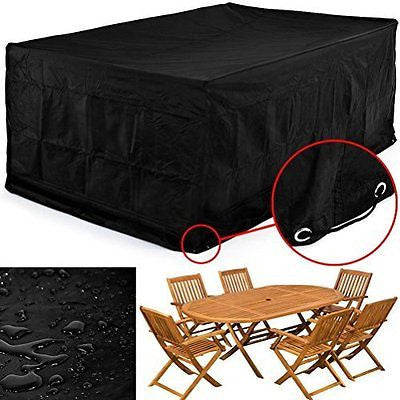 213*132*74CM Waterproof Chaise Lounge Chair Covers Dustproof Furniture Cover