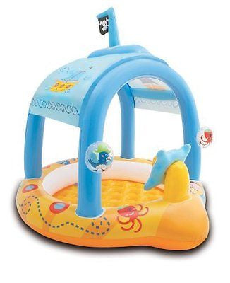 "Intex Lil' Captain Inflatable Baby Pool 42"" X 40"" X 39"" for Ages 1-3"