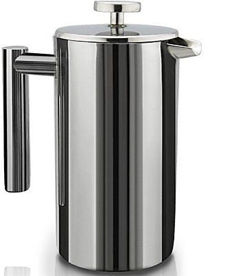 SterlingPro Double Wall Stainless Steel French Coffee Press 1 Liter