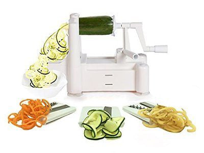 Tri-Blade Vegetable Spiral Slicer Strongest-Heaviest Pasta Spaghetti Maker