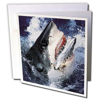 Kike Calvo Shark - Great White Shark - 1 Greeting Card with envelope