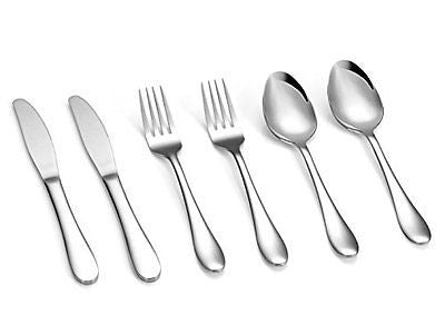 GreaterChef Flatware Dining Utensils Set 430-Grade Stainless Steel Tableware