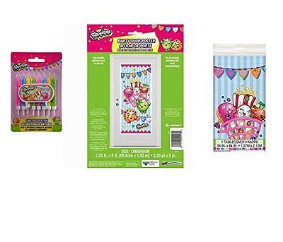 "Shopkins Birthday Party Decoration Kit -Includes 1 Shopkins 84"" x 54"" Plastic"