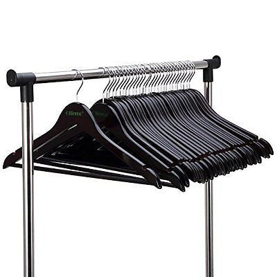 Ollieroo? 30 Pcs Solid Wood Clothes Hanger Multifunctional Standard Suit Hanger