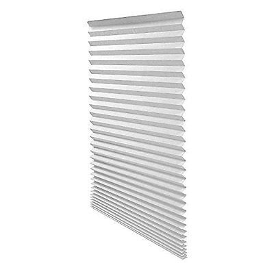 Quick Fix Light Filtering Pleated Fabric Shade White, 36