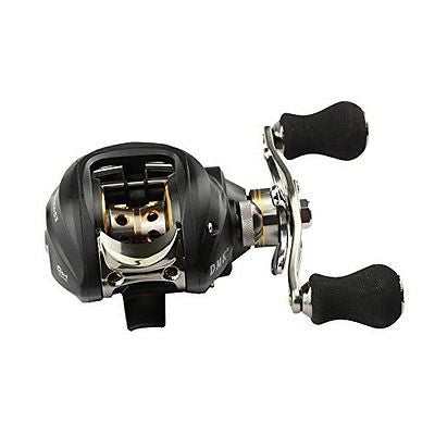 6.3:1 Right Hand Bait Casting Fishing Reel 10Ball Bearings + One-way Clutch