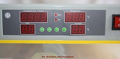 A&I 56C Quail Egg Digital Incubator / Hatcher AUTOMATIC TURNER Avian Poultry Loc