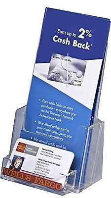 Clear-Ad - LHF-P100 - Tri-Fold Brochure Holder with Business Card Pocket (1)