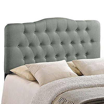 LexMod Annabel Fabric Headboard, Full, Gray