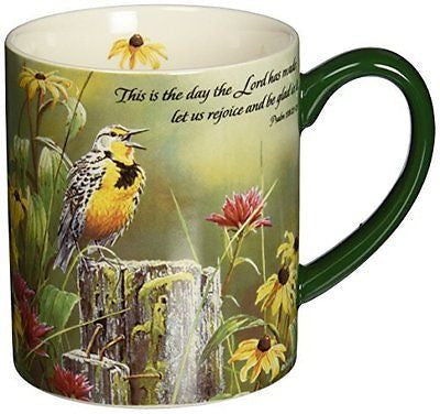 Greeting The New Day Mug 14-Ounce