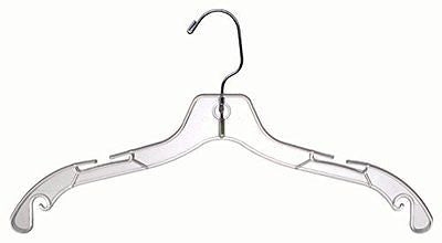 Plastic Top Hangers Clear (100 Pieces)