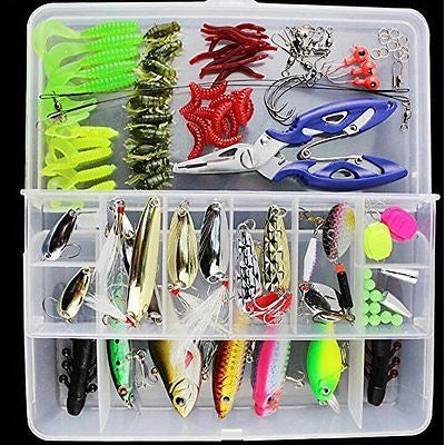Fishing Lures 101PCS/Box Mixed Lots Freshwater Lures with Tackle Box