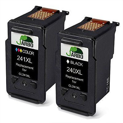 JARBO Remanufactured For Canon PG-240XL CL-241XL Ink Cartridge 1 Black+1