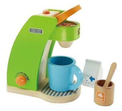 Hape - Playfully Delicious - Coffee Maker Wooden Play Kitchen Set