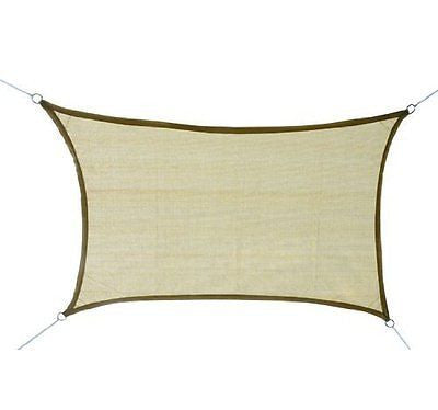 Windscreen4less Sun Shade Sail Canopy Beige 3rd Generation, Commercial Grade, 5