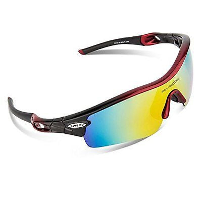 RIVBOS? 805 Polarized Sports Sunglasses Glasses with 5 Interchangeable Lenses