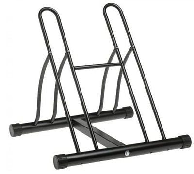 Racor Two-Bike Floor Bike Stand, Bicycle Storage Rack, Garage Organizer, PBS-2R