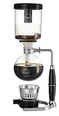 Siphon Coffee Maker Stainless Steel Vacuum Coffeemaker with Alcohol Burner