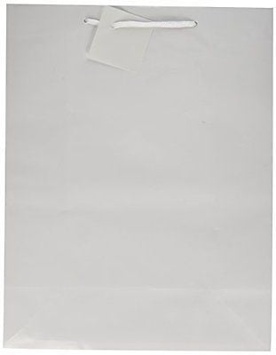 Large White Gift Bags (1 Dozen) - Bulk [Toy] by Fun Express