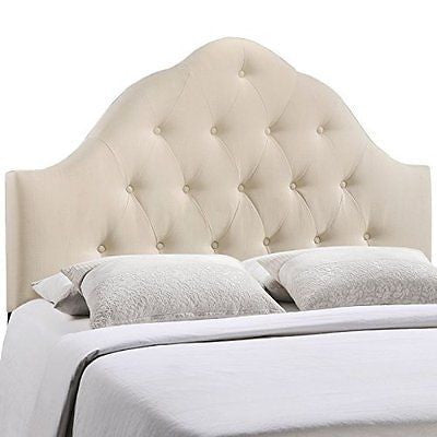 LexMod Sovereign Fabric Headboard, Queen, Ivory