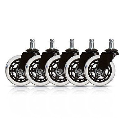 Office Chair Caster Replacement Wheels (Set of 5)