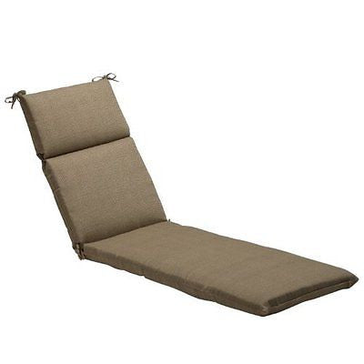 Pillow Perfect Indoor/Outdoor Taupe Textured Solid Chaise Lounge Cushion