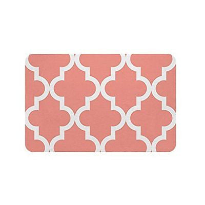 Gillham Studios Scalloped Durable Microfiber Foam Bath Rug (24x17 inch) Large