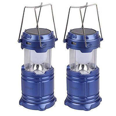 Camping Lantern - LED Solar Rechargeable Camp Light Flashlights - Emergency Lamp