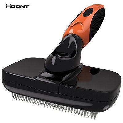 Hoont? Dog Brush Pro with Self Clean - Pet Slicker Brush for Dogs and Cats - Rem