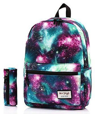 [HotStyle Fashion Printed] TrendyMax Galaxy Pattern School Backpack Cute