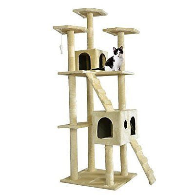 BestPet CT-9073 Cat Tree Scratcher Play House Condo Furniture Toy, 73-Inch