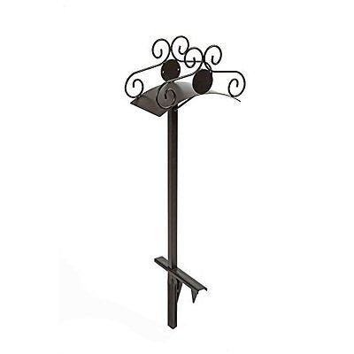 Liberty Garden Products Ornamental Capacity Steel Garden Hose Stand Black
