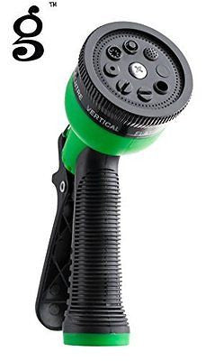 Gar Dan Man(TM) Garden Hose Nozzle - Hand Sprayer - 8 Pattern Adjustable