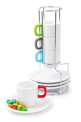 Artic Coffee Cups Set Stackable -Ceramic Cup for Espress Tea and Turkish Coffee