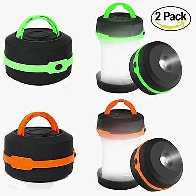 Camping Lantern 2 Pack Led Lantern Mini LED camping lights flashlights