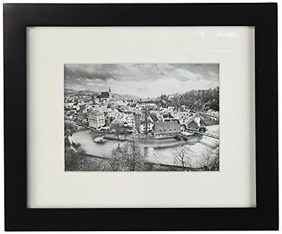 Golden State Art, 8x10 Black Photo Wood Collage Frame with REAL GLASS and White